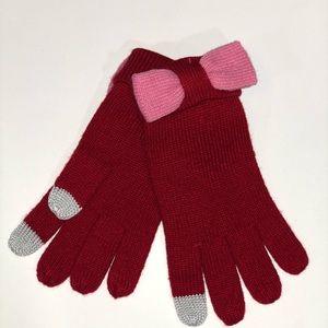 Kate Spade Tech Friendly ColorBlock Gloves w/ Bow